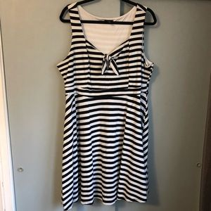 Torrid: Black/White Striped Sailor Dress